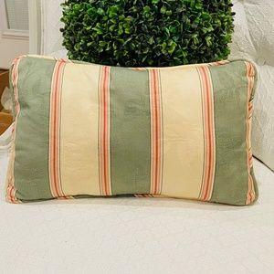 Striped Damask Boudoir Pillow